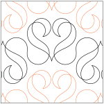 pattern: RIbbon Hearts